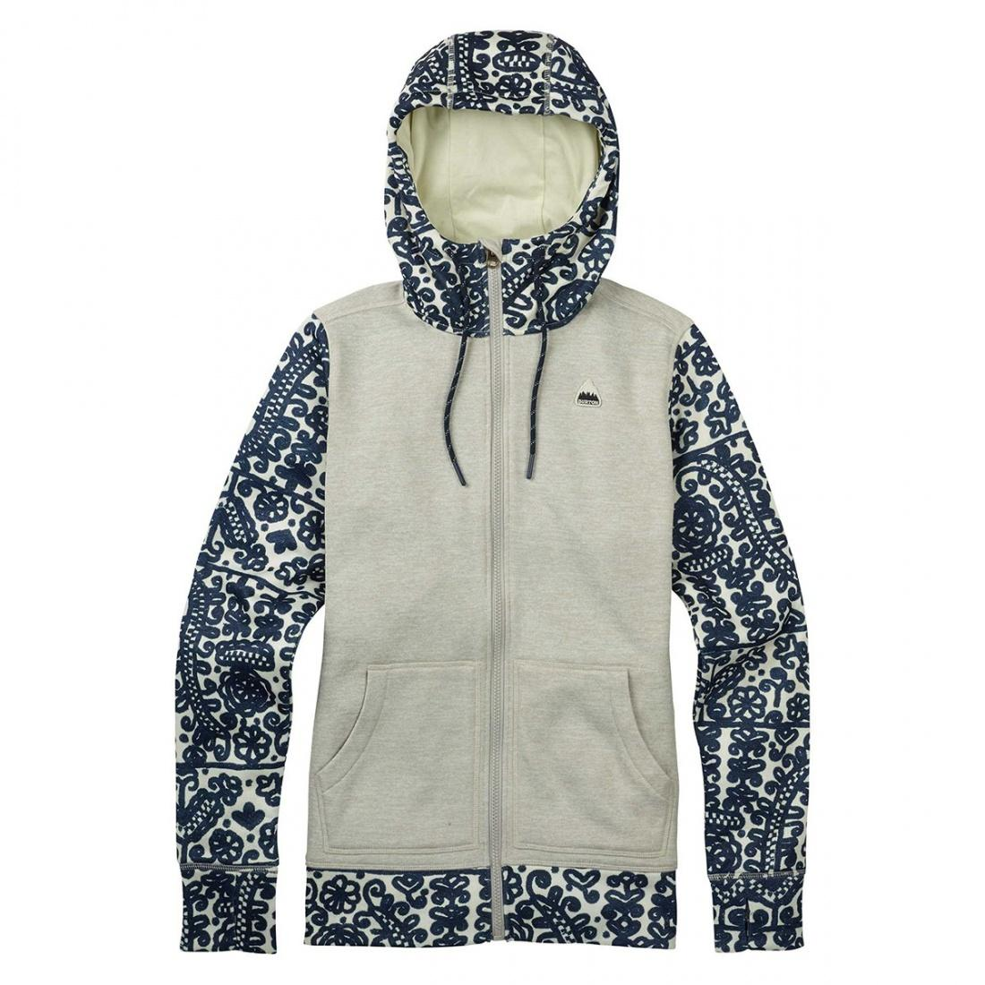 Burton Толстовка Burton Quartz Full-Zip Dove Heather, , , FW18 S сумка дорожная burton wheelie dbl deck hawaiian heather