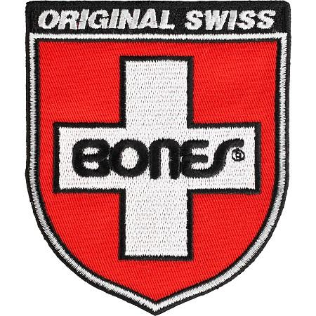Bones Нашивка Bones Swiss Sheld bones набор подшипников bones 7 ball swiss 8mm 8 packs 8мм