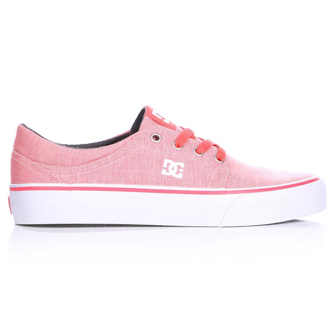 DC SHOES Кеды DC shoes Trase TX SE PINK/RASPBERRY US 5 dc shoes зимние кеды dc shoes evan smith wnt wheat fw17 us 9