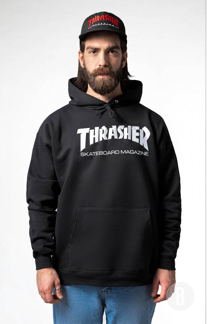 THRASHER Толстовка Thrasher Skate Mag Black L кенгуру picture organic basement skate black