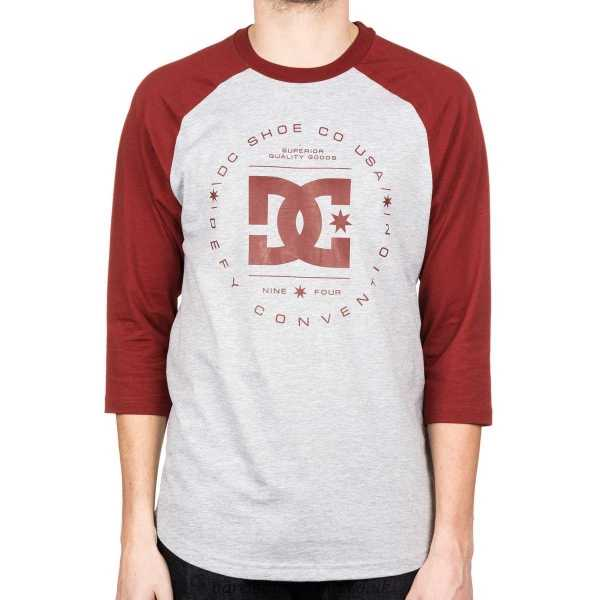 DC SHOES Лонгслив DC shoes Rebuilt 3/4 Raglan GREY HEATHER, , FW17 L dc shoes кеды dc heathrow se 11