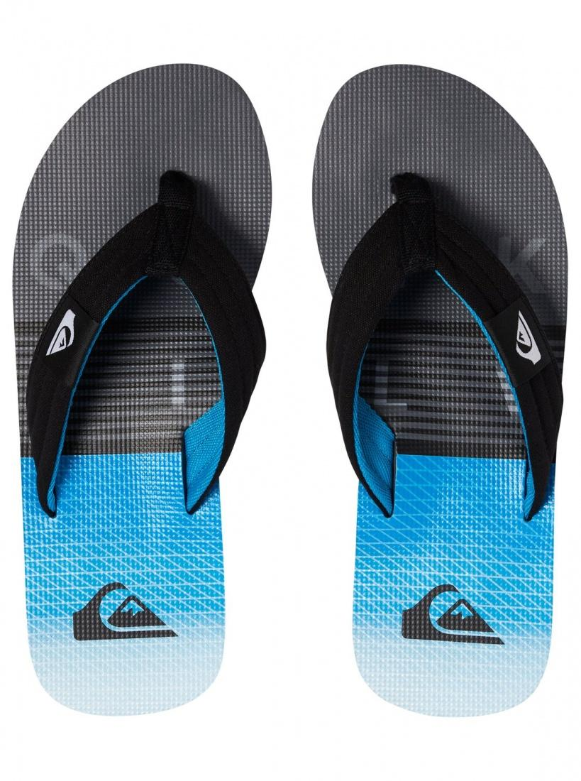 Quiksilver&CO Шлепанцы Quiksilver Molokai Layback BLACK/GREY/BLUE 41 quiksilver скейтборд quiksilver black beauty black