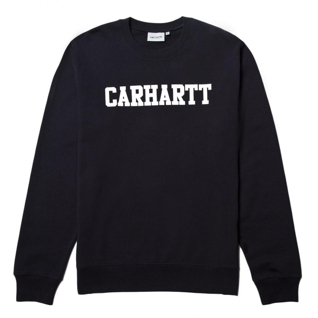Carhartt Свитшот Carhartt WIP Dark Navy/White M футболка женская carhartt wip carrie yale ash heather