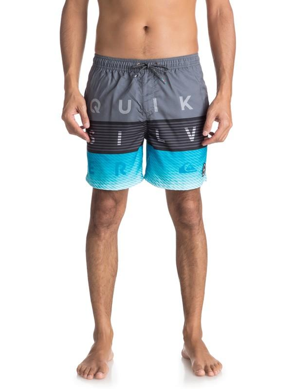 Quiksilver&CO Шорты Quiksilver Word Block 17 IRON GATE M шорты классические dc sumner straight blue mirage
