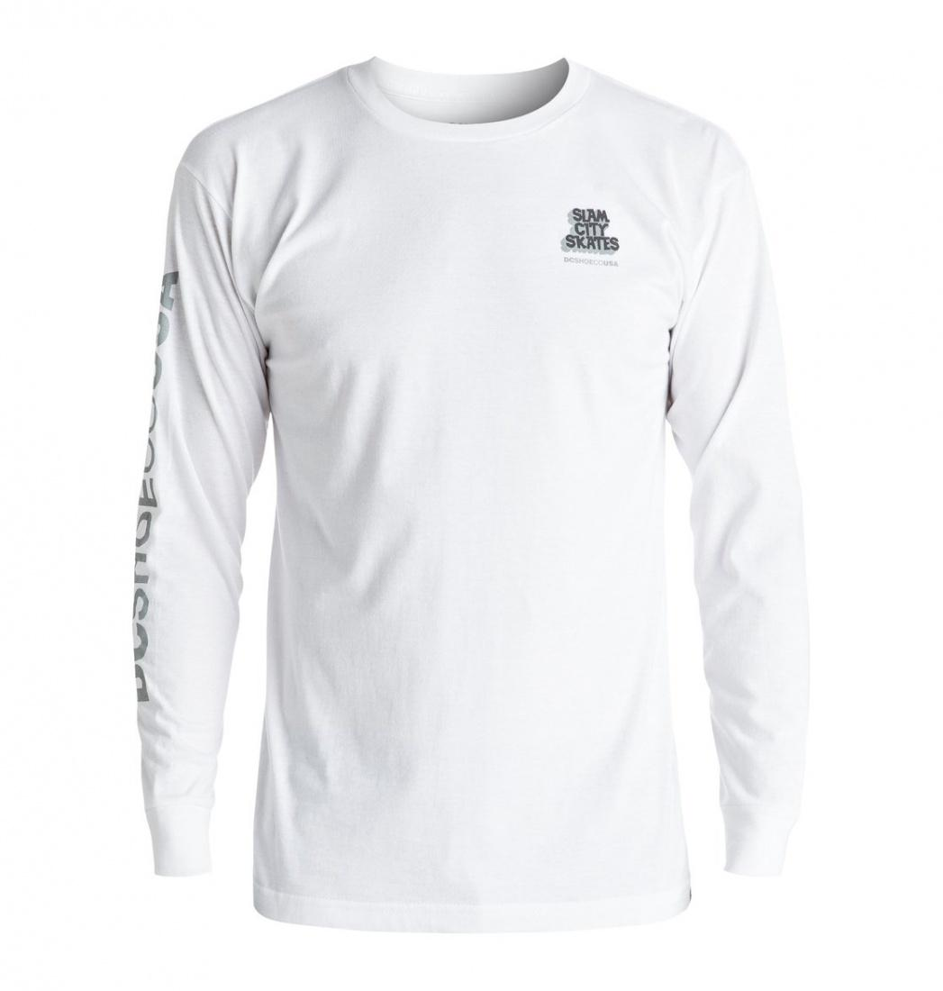 DC SHOES ФУФАЙКА DC SLAM CITY LS M TEES WBN0 МУЖСКАЯ WHITE L dc shoes майка dc this way out ta tees black