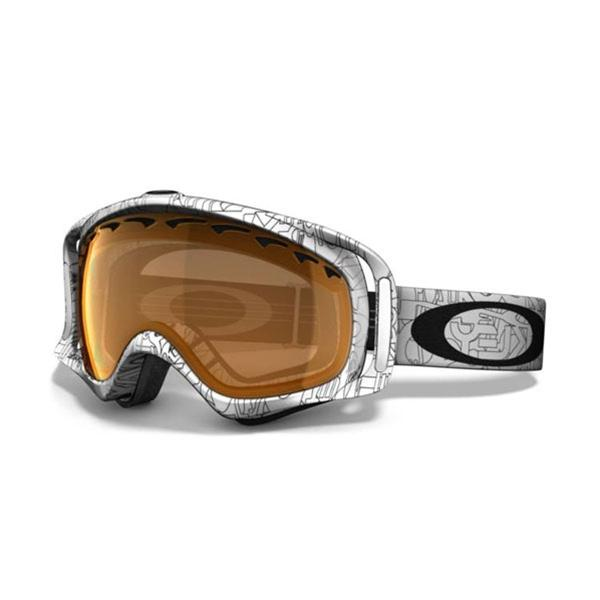Oakley Маска сноубордическая Oakley Crowbar Snow White Factory Txt.w/Persimmon One size горнолыжная маска oakley oakley crowbar хаки