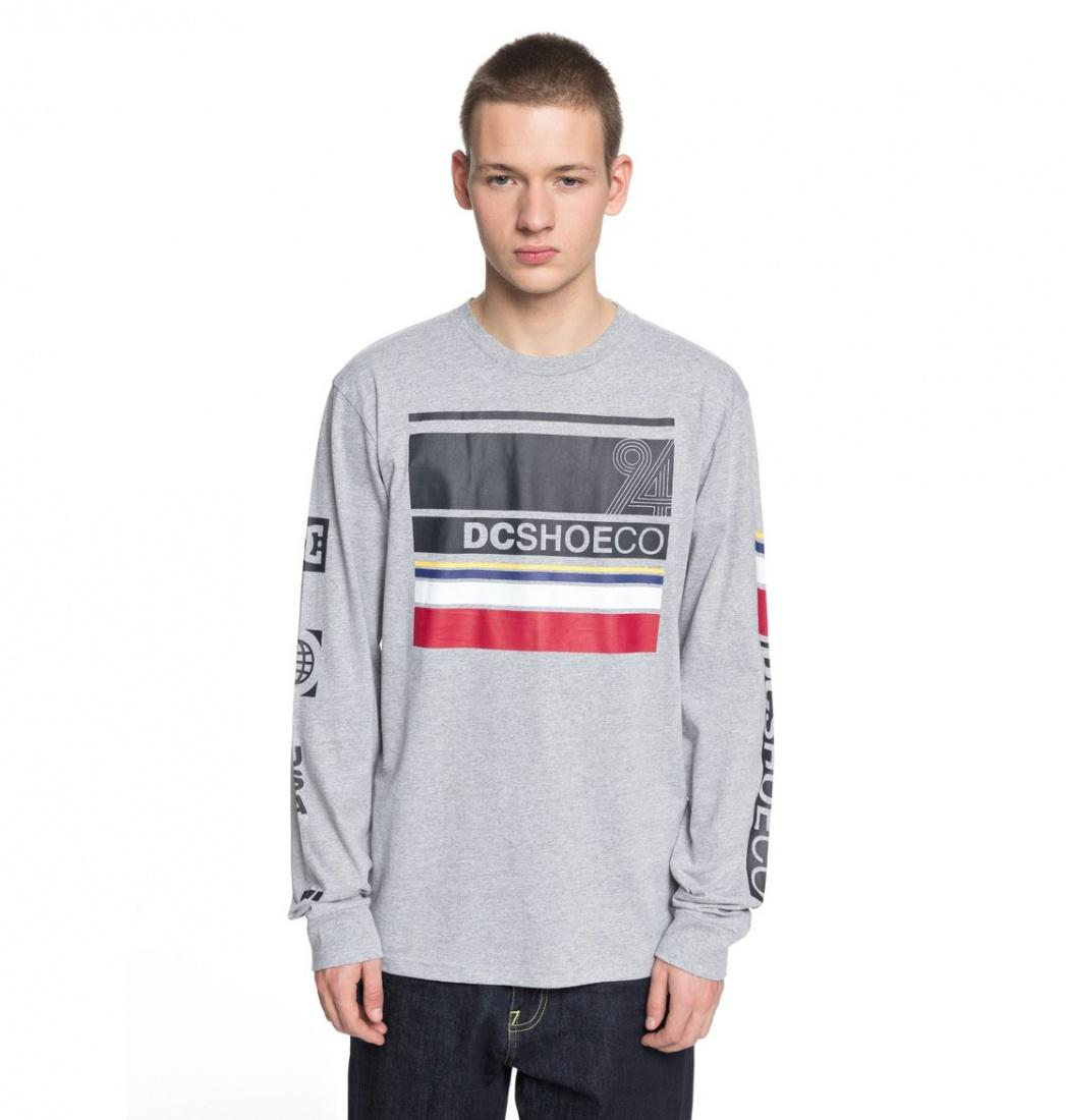 DC SHOES Лонгслив DC shoes Mad Racer GREY HEATHER L dc shoes свитшот dc shoes rebuilt campanula grey heather xl