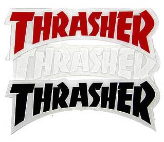 THRASHER Наклейка Thrasher Logo die Cut One size blxqpyt big size 34 43 knee boots for women sexy long boots winter autumn shoes round toe platform knight boots 66 28