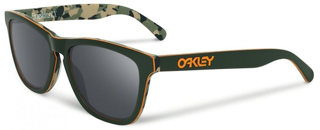 Oakley Очки Oakley FROGSKIN LX CAMO GREEN/BLACK IRIDIUM One size купить в Москве 2019