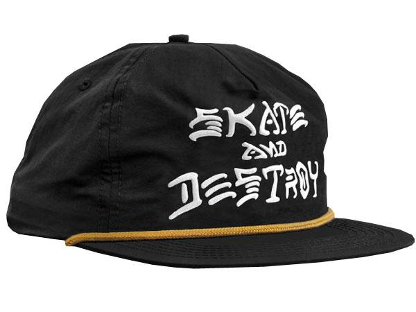 THRASHER Бейсболка  Snapback - &D Puff INK Black One size