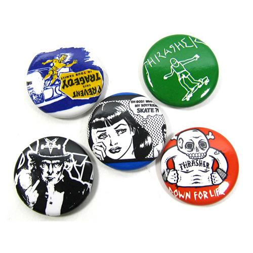 Значек THRASHER USUAL SUSPECTS BUTTONS (5-PACK) от Board Shop №1