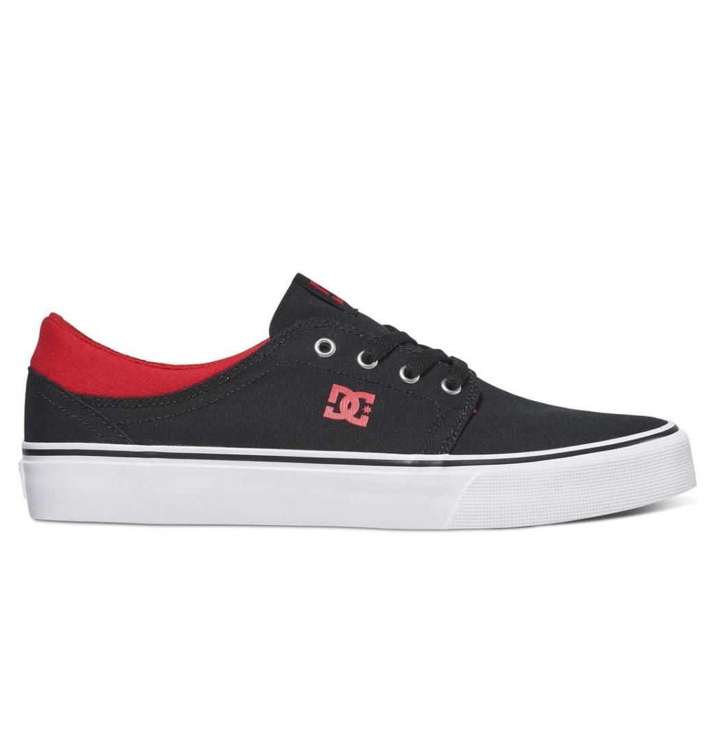 DC SHOES Кеды DC shoes Trase TX BLACK/RED/WHITE 8 купить дешево онлайн
