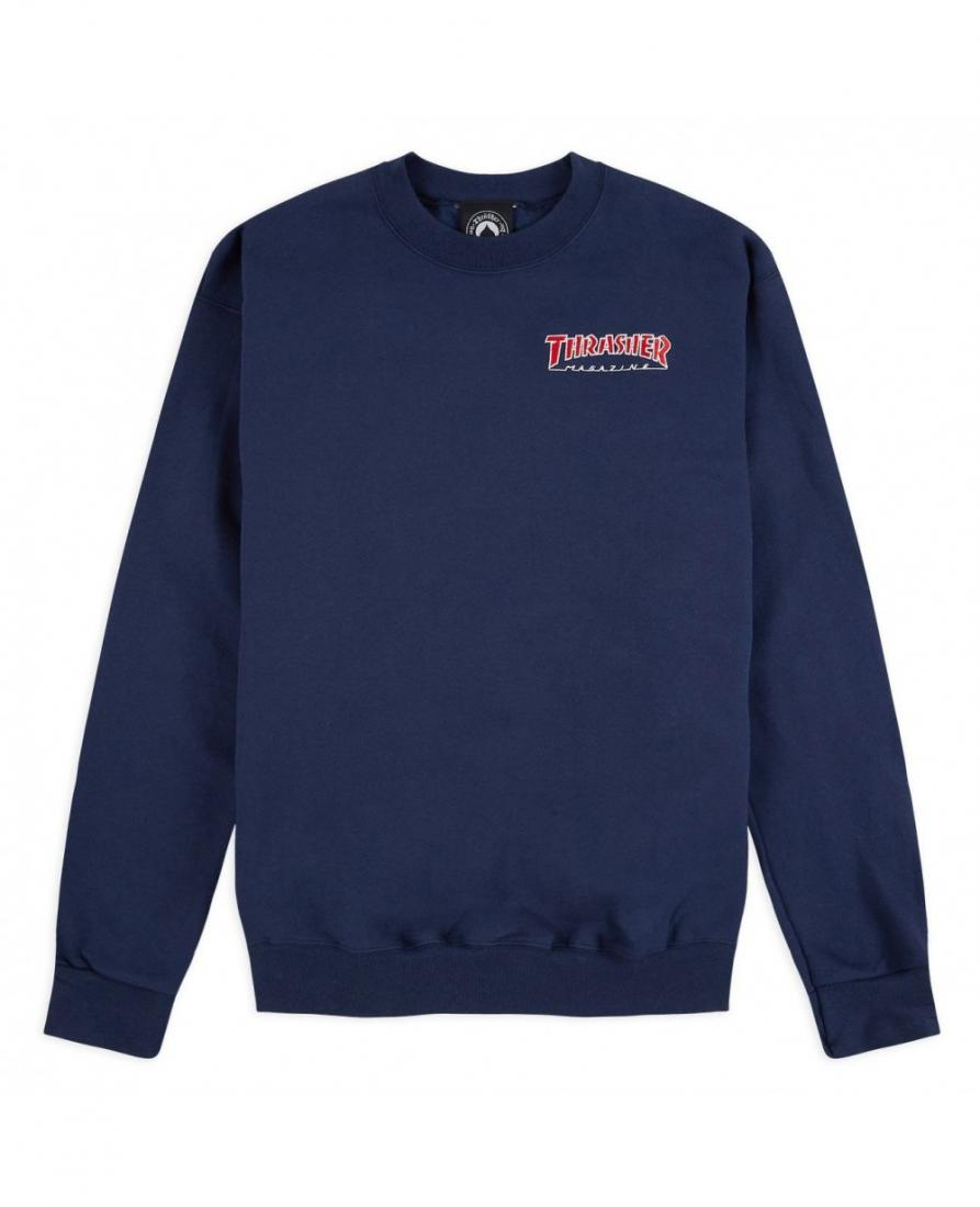 Толстовка Embroidered Outlined Crew THRASHER