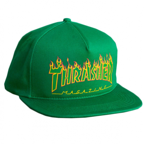 Бейсболка Thrasher FLAME LOGO STRUCTURED SNAPBACK