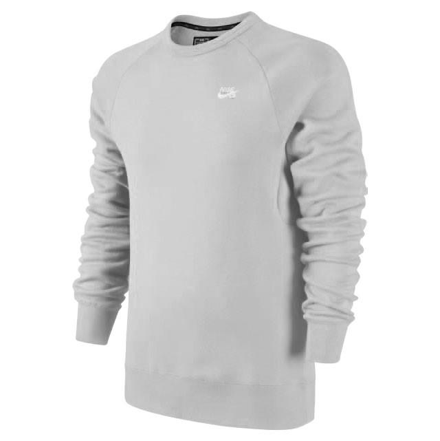 Nike SB Свитшот Nike SB Icon Crew Fleece K GREY HEATHER/WHITE XL