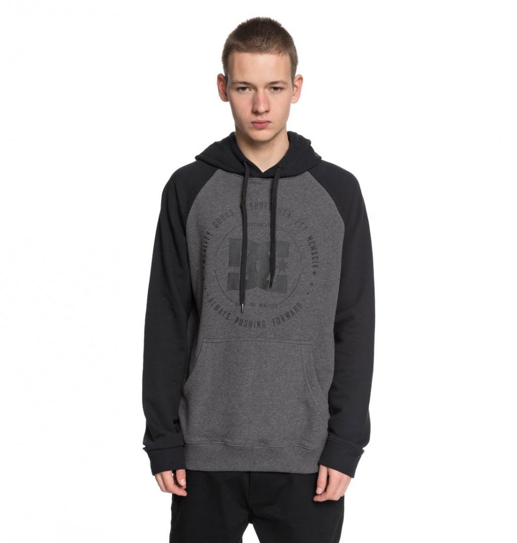 DC SHOES Толстовка   Rebuilt BLACK/CHARCOAL HEATHER XL