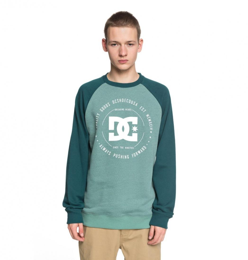 DC SHOES Свитшот DC shoes Rebuilt JUNE BUG/DEEP SEA M dc shoes свитшот dc shoes rebuilt campanula grey heather xl