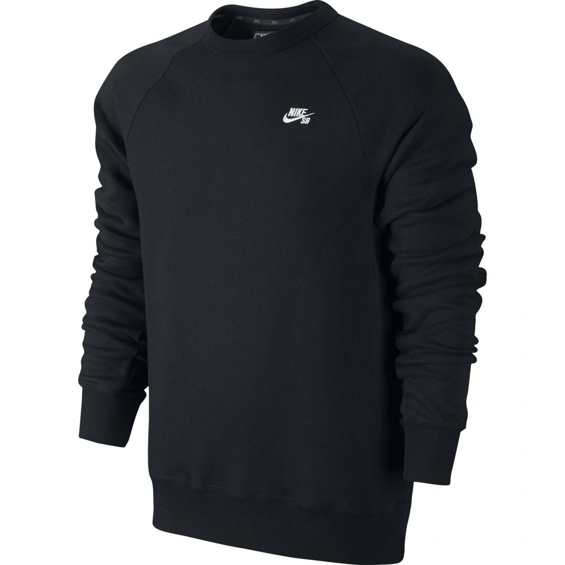 Nike SB Свитшот Nike SB Icon Crew Fleece Black/White S nike худи nike fleece city lights po hdy