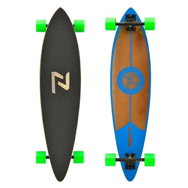 Z-FLEX Комплект лонгборд Z-FLEX PINTAIL LONGBOARD Blue сумка el tempo el tempo el072bmaanj4