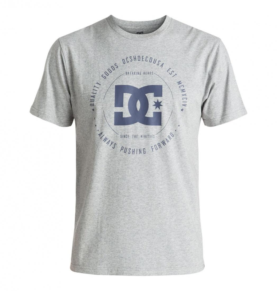 DC SHOES ФУТБОЛКА DC REBUILT 2 SS M TEES KNFH МУЖСКАЯ GREY HEATHER XL рубашка в клетку dc woodale deep dyed heather grey