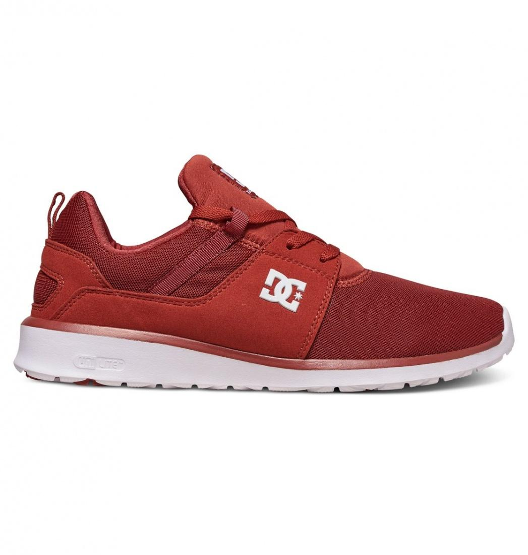 DC SHOES Кроссовки DC shoes Heathrow BURNT HENNA/WHITE 10 кроссовки детские dc heathrow se green grey white