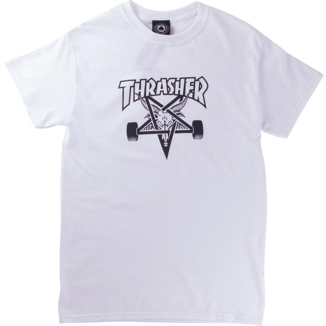 THRASHER Футболка Thrasher Skate Goat White L thrasher наклейка thrasher skate and destroy m