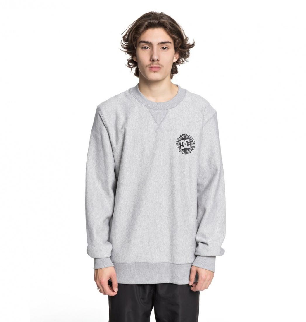 DC SHOES Свитшот DC shoes Core HEATHER GREY M dc shoes свитшот dc shoes rebuilt campanula grey heather xl