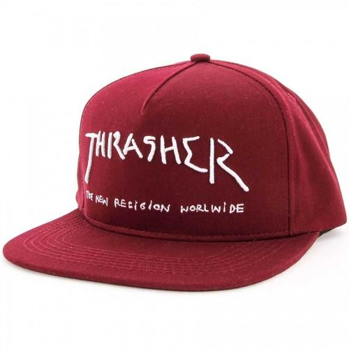 THRASHER Бейсболка Tharasher New Religion Black thrasher бейсболка thrasher skategoat mesh black grey