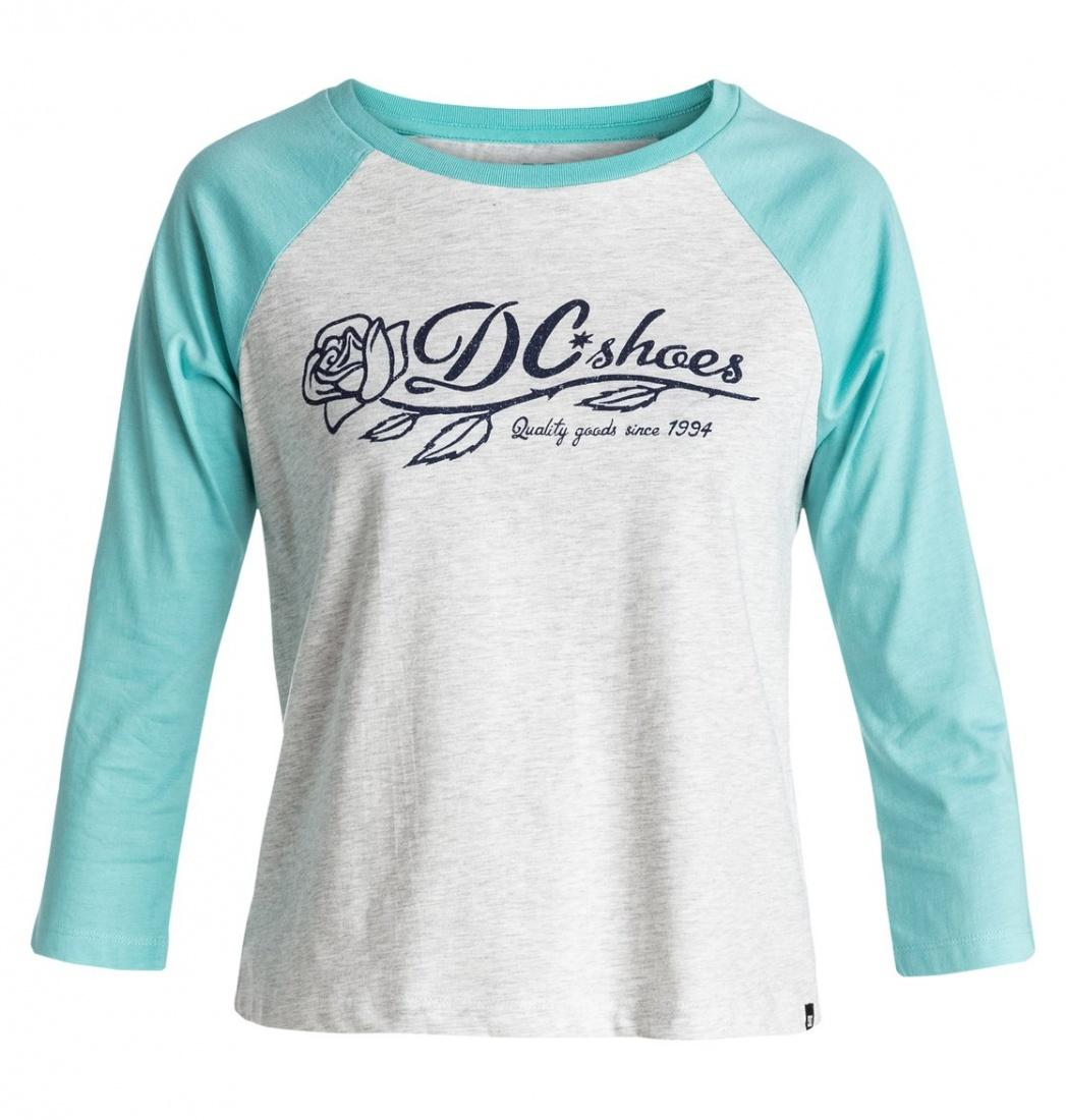 DC SHOES ФУФАЙКА DC T-ROSE RAGLAN C J TEES SEYH ЖЕНСКАЯ LIGHT GREY HEATHER S рубашка в клетку dc woodale deep dyed heather grey