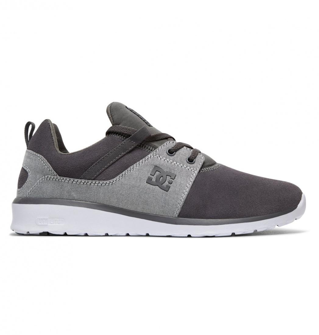 DC SHOES Кроссовки DC shoes Heathrow SE GREY/GREY/WHITE US 9 dc shoes зимние кеды dc shoes evan smith wnt wheat fw17 us 9