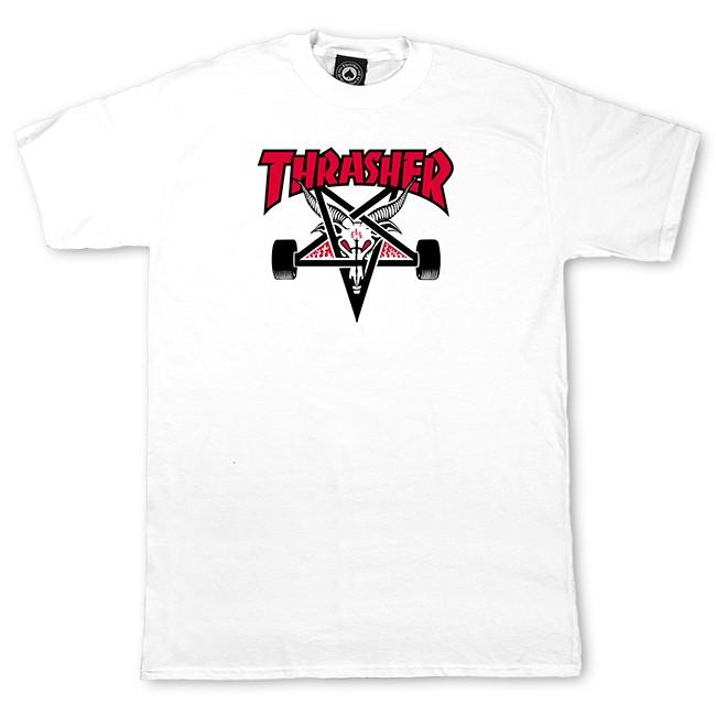 THRASHER Футболка Thrasher Two Tone SK8Goat White M contrast embroidered two tone plush top