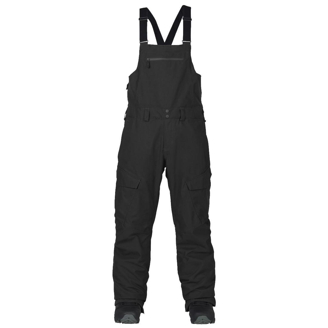 Burton Штаны для сноуборда Burton Reserve Bib Pant TRUE BLACK, , , FW18 S сумка для документов burton tote true black canvas