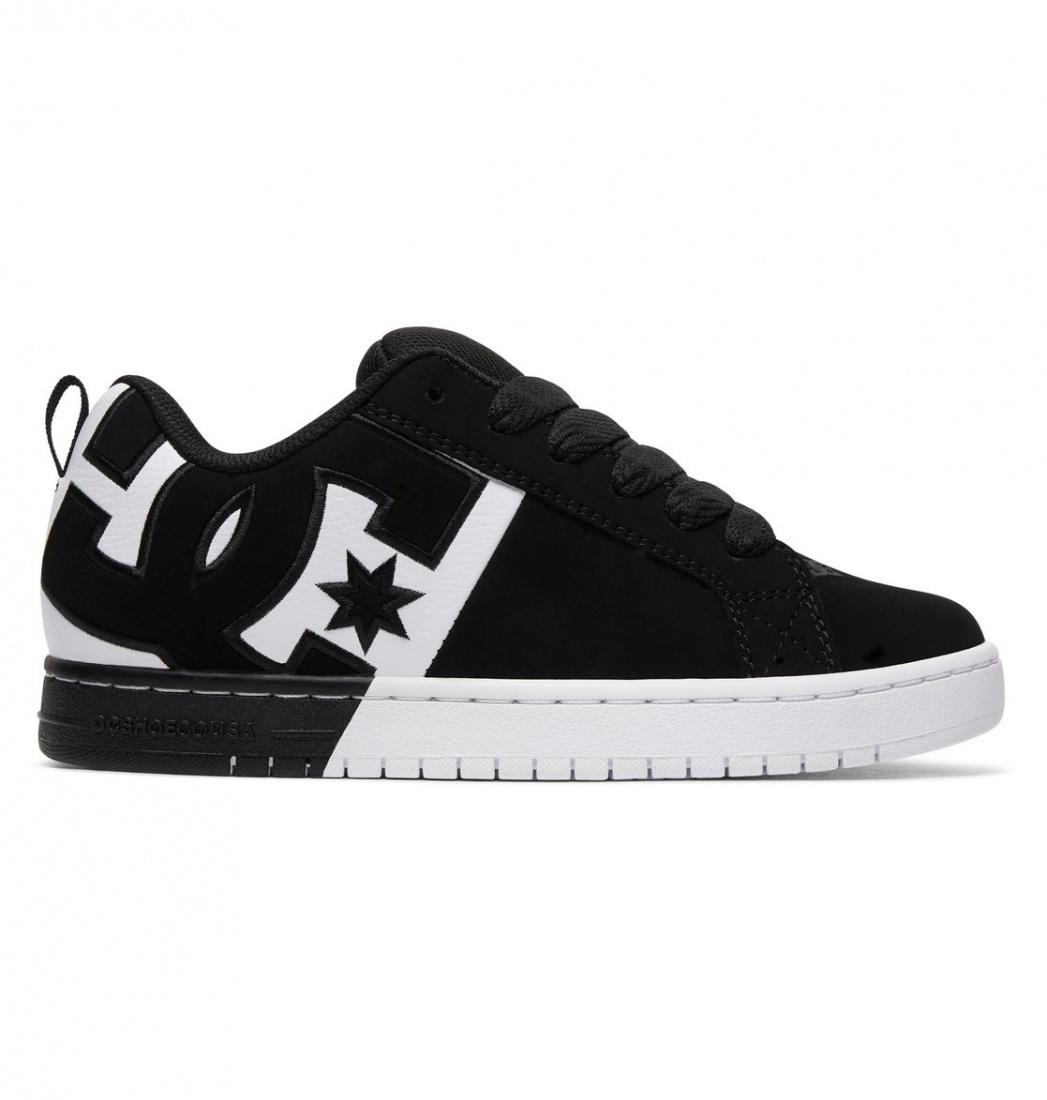DC SHOES Кеды DC shoes Court Graffik SQ BLACK/WHITE/BLACK US 9 dc shoes полуботнки dc new jack s m shoe bg3 мужские black gold 9