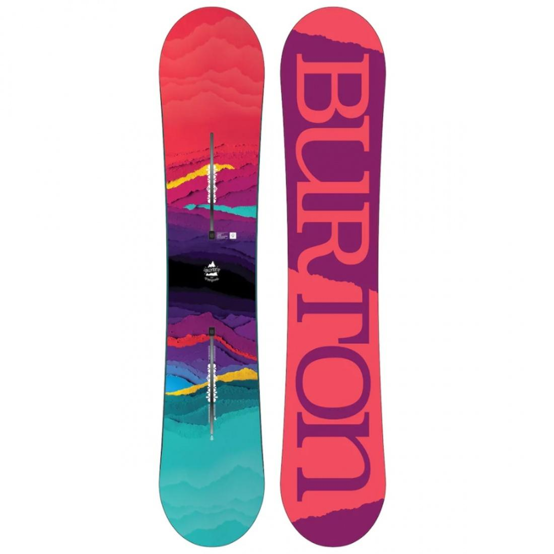 Burton Сноуборд Burton Feelgood Flying V 144 лонгслив спортивный burton burton bu007emzen42