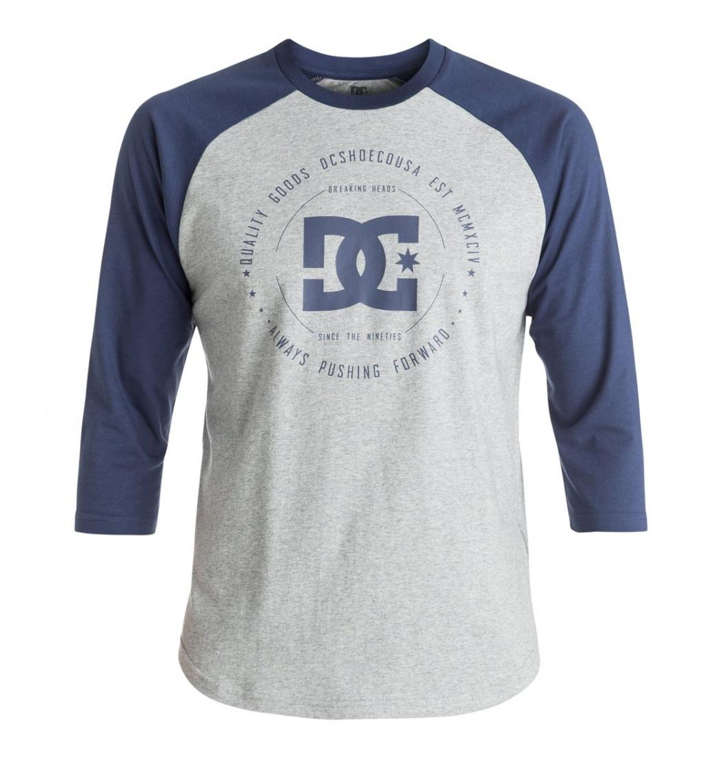 DC SHOES ФУФАЙКА DC REBUILT 2RAGLAN M TEES XSSB МУЖСКАЯ GREY HEATHER/SUMMER BLUES M рубашка в клетку dc woodale deep dyed heather grey