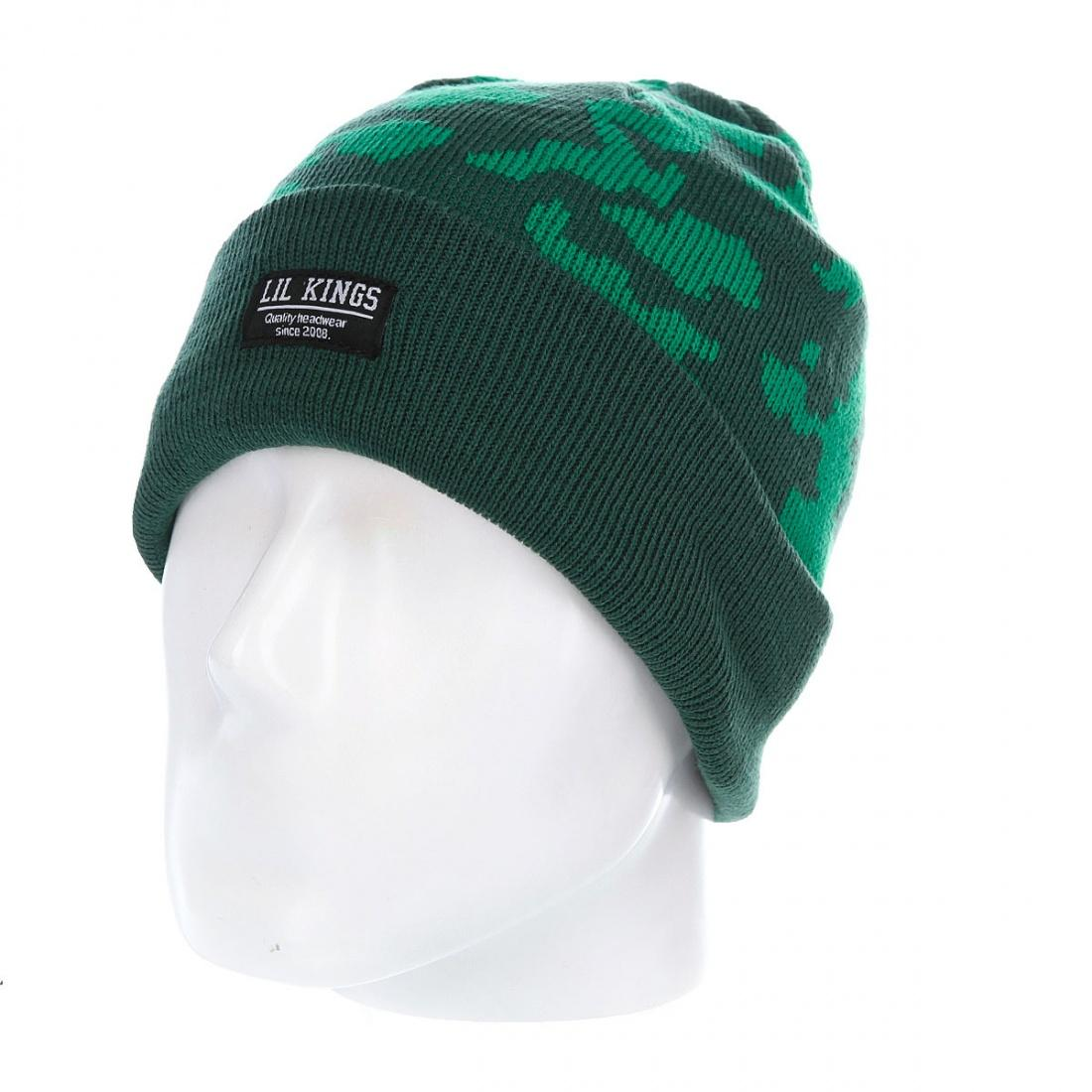 Lil kings Шапка Lil kings Camo Green One size шапка harrison theodore short beanies green