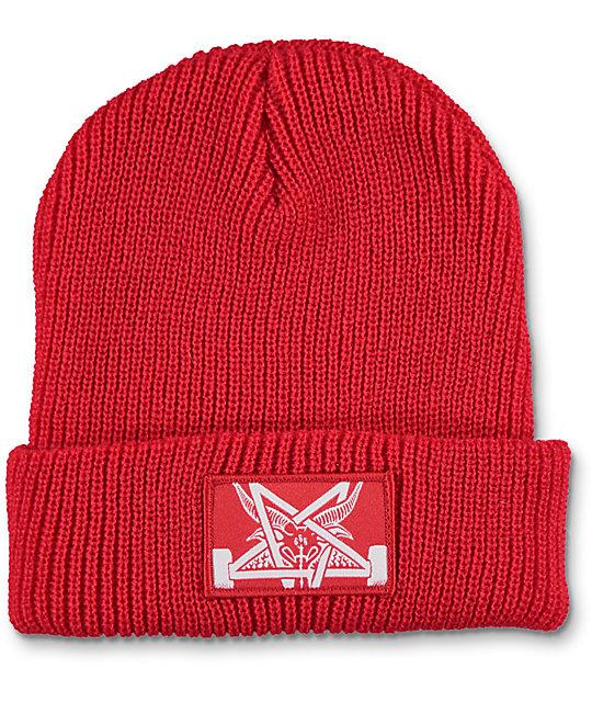 THRASHER Шапка Thrasher Skategoat Zoom Beanie Red/White thrasher бейсболка thrasher skategoat mesh black grey