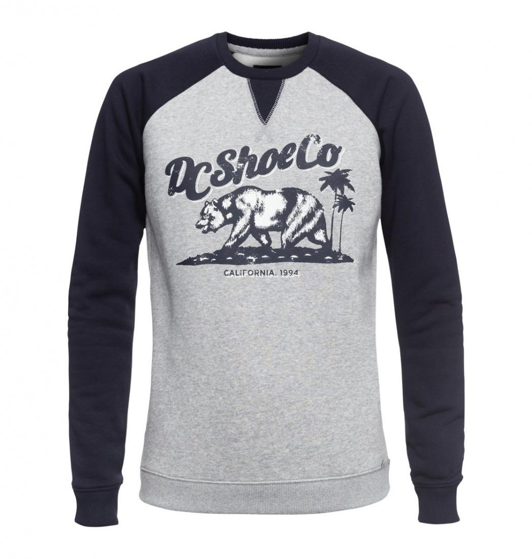 DC SHOES Свитшот DC shoes Bear And Palms Raglan GREY HEATHER, , FW17 S dc shoes кеды dc heathrow se 11