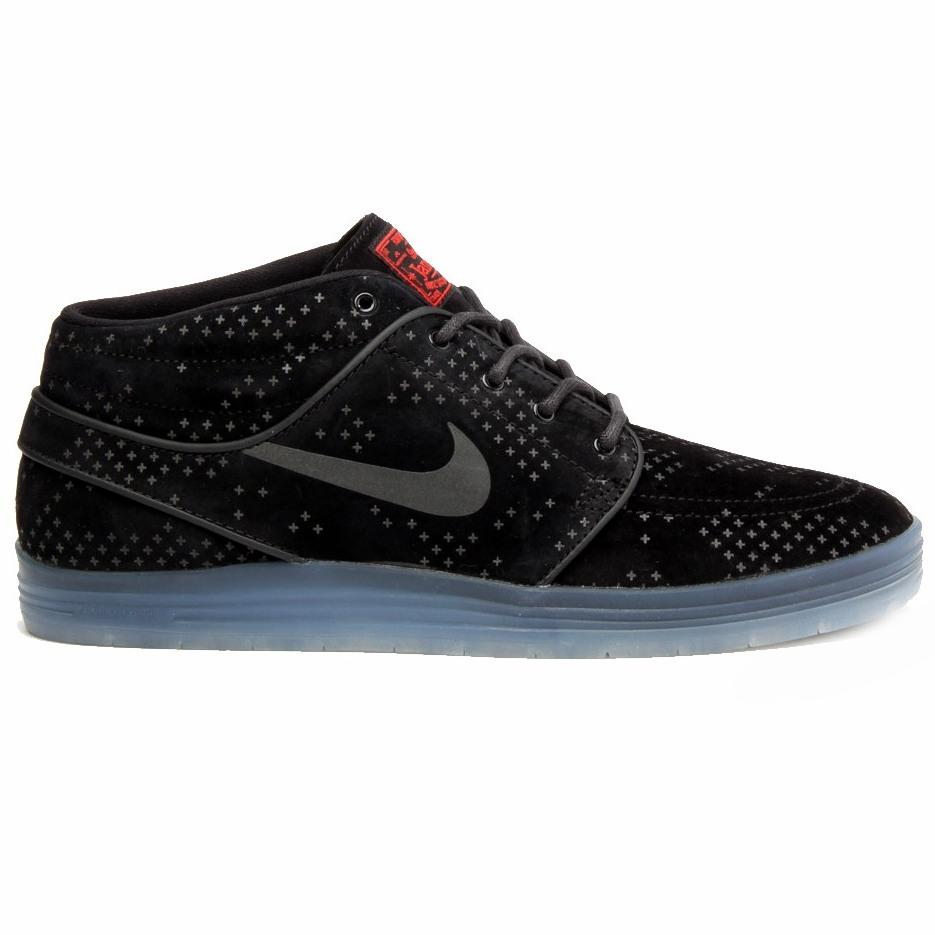 Nike SB Кеды LUNAR STEFAN JANOSKI MID FLASH (8, Black/Black-Clear, , FW15)