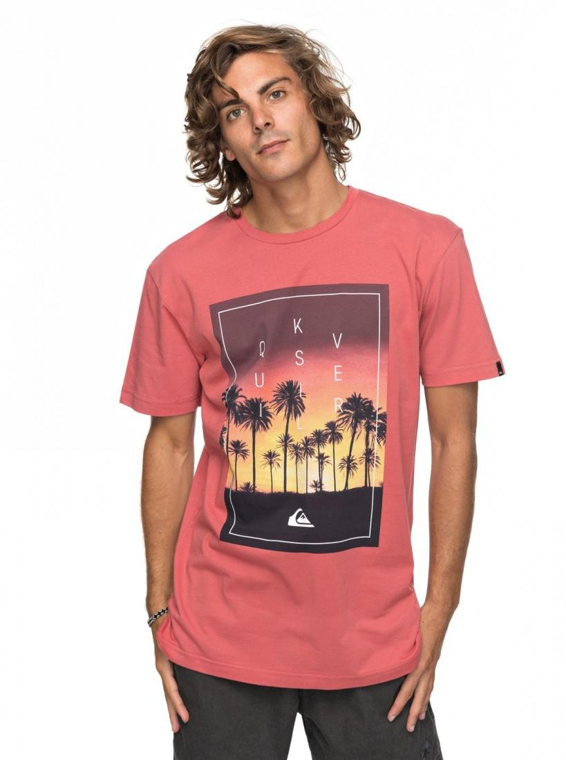 Quiksilver&CO Футболка Quiksilver Classic Salina Stars MINERAL RED M шорты классические quiksilver krandychinst mineral red