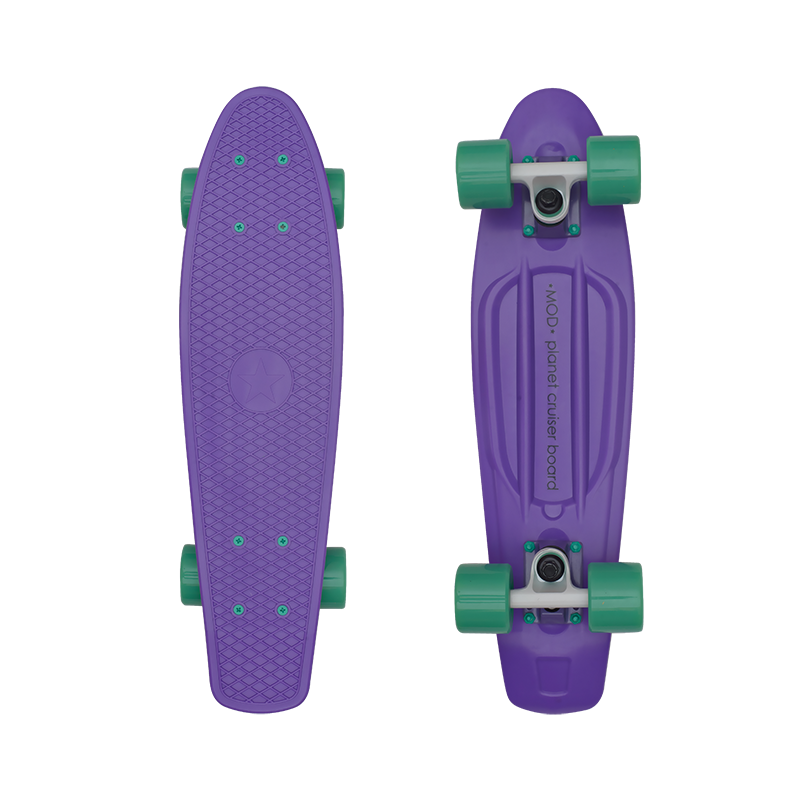 MOD Круизер MOD Cruiser 22 Purple/Green скейт мини круизер penny original 22 ltd shadow jungle 6 x 22 55 9 см