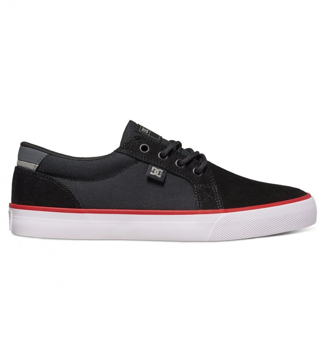 DC SHOES Кеды DC shoes Council S BLACK/WHITE/RED US 10 кеды кроссовки высокие dc council mid tx destroy indigo