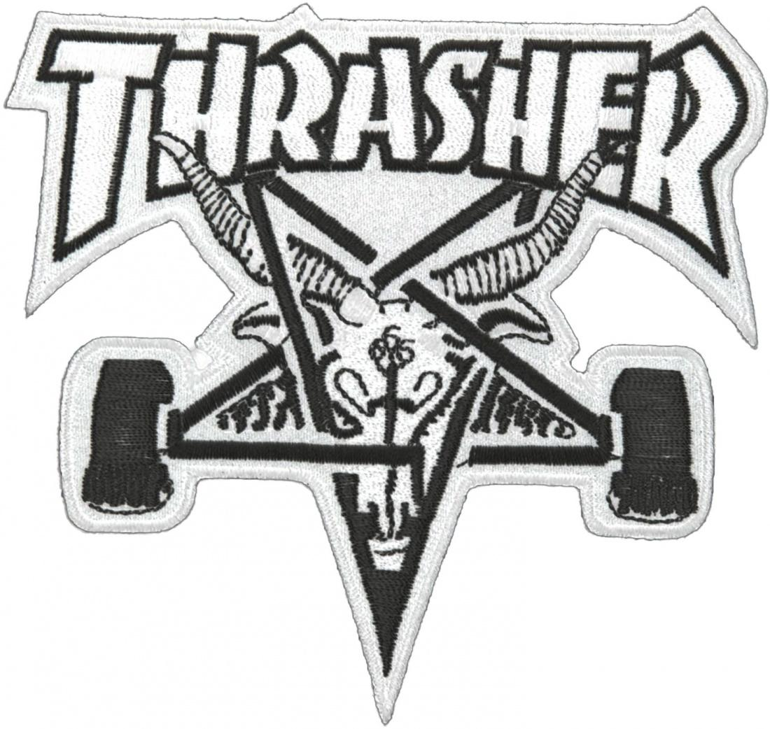 THRASHER Нашивка Thrasher Skate Goat Patch One size кенгуру picture organic basement skate black