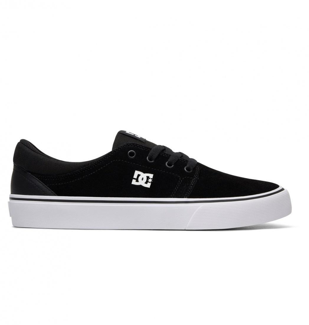 DC SHOES Кеды DC shoes Trase S BLACK/BLACK/WHITE US 9 dc shoes полуботнки dc new jack s m shoe bg3 мужские black gold 9