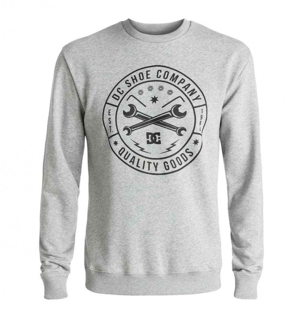 DC SHOES ДЖЕМПЕР DC EQUIPMENT CREW M OTLR KNFH МУЖСКОЙ GREY HEATHER M рубашка в клетку dc woodale deep dyed heather grey