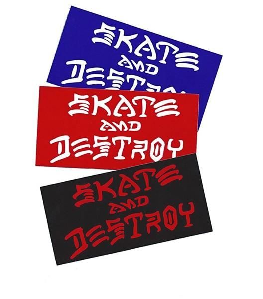 THRASHER Наклейка Thrasher SKATE AND DESTROY  M наклейка декоративная астра 4 см х 6 5 см