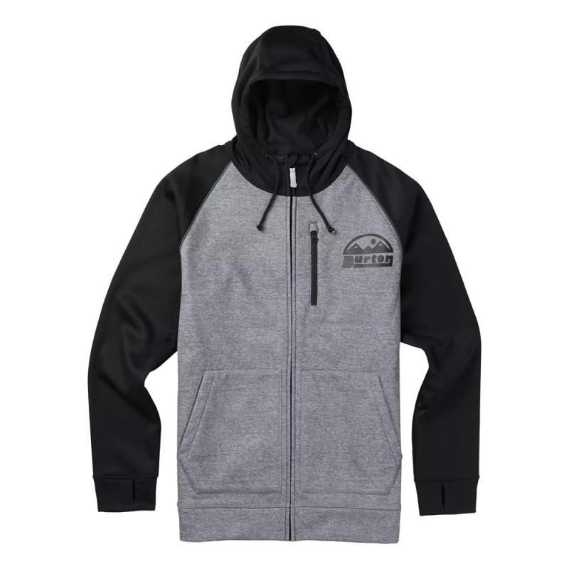 Burton Толстовка Burton Bonded Full-Zip Hoodie MONUMENT HEATHER, , , FW18 XL сумка дорожная burton wheelie dbl deck hawaiian heather