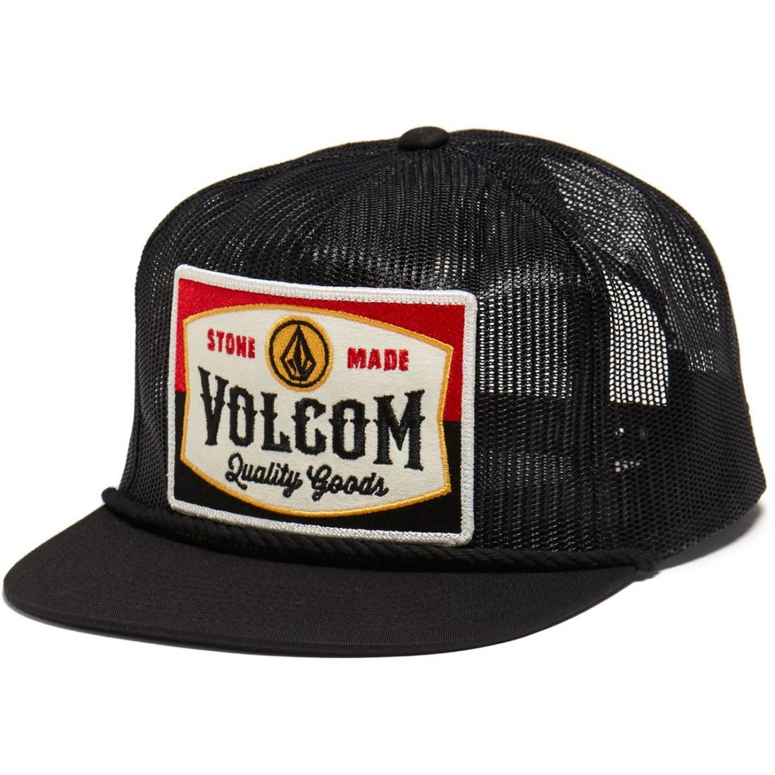 наклейки на сноуборд volcom let it storm stomp black Volcom Бейсболка Volcom Patch Panel Black