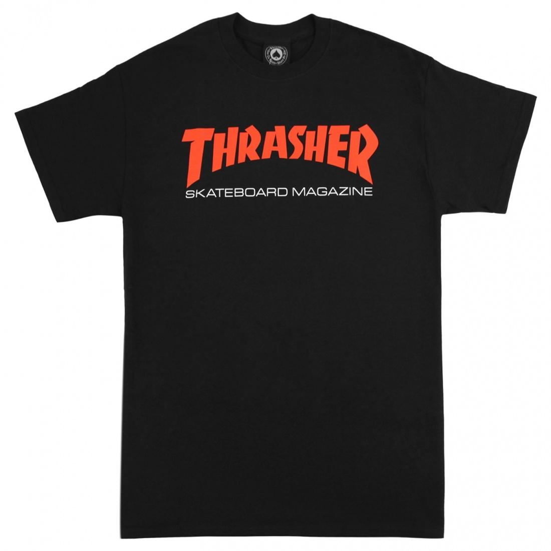 THRASHER Футболка Thrasher Two-Tone Skate Mag T-Shirt Black XL lace applique two tone t shirt