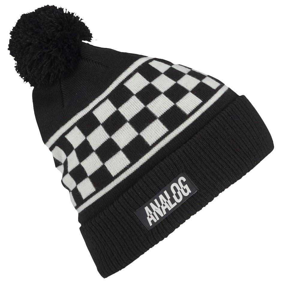 Analog Шапка Analog Bigelow Pom Beanie STOUT WHITE SPD CHK, , , FW18 One size